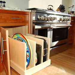 Corner and pullout cabinets that maximize space -