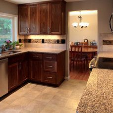 Traditional Kitchen by Cornerstone Builders Inc