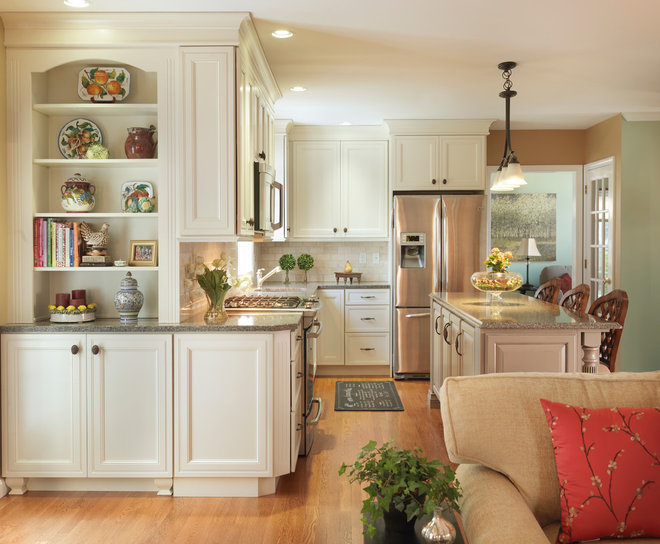 Transitional Kitchen by Mandeville Canyon Design