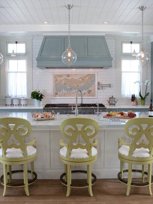 zweizeilige k chen mit blauen schr nken ideen bilder. Black Bedroom Furniture Sets. Home Design Ideas