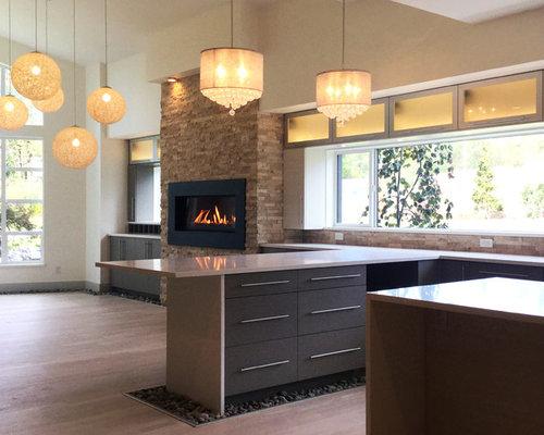 Fotos de cocinas dise os de cocinas comedor modernas con - Salpicadero cocina ikea ...