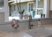 I love the backsplash...the white subway tiles..can you share the details?