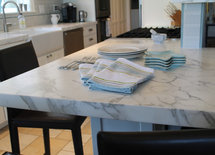 This countertop is beautiful.  Is it honed marble?