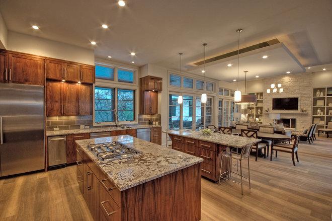 Transitional Kitchen by Cornerstone Architects