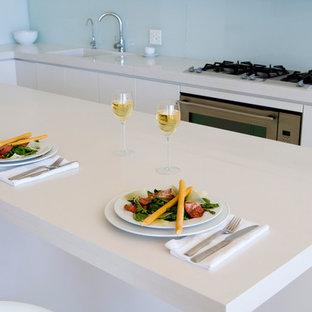 Example Of A Trendy Kitchen Design In Raleigh