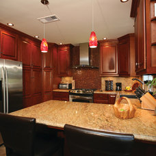 Transitional Kitchen by Pacific Coast Custom Design