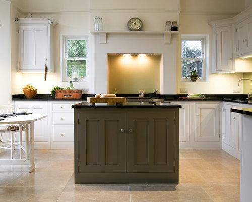 White Kitchen Grey Island grey island cabinets | houzz
