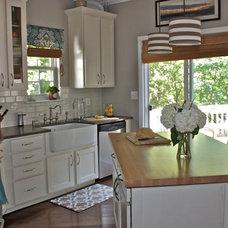 Transitional Kitchen by Ally Whalen Design