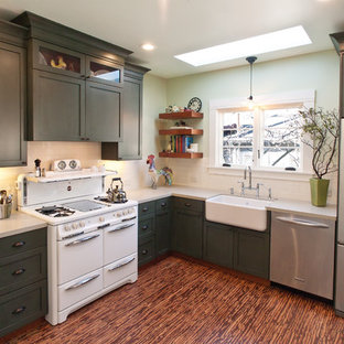 Traditional kitchen photos - Kitchen - traditional kitchen idea in San Francisco with stainless steel appliances and a farmhouse sink
