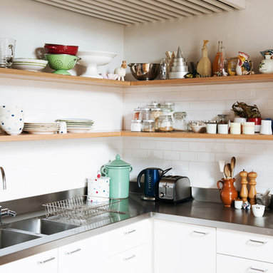 Open shelves kitchen design ideas pictures remodel and decor