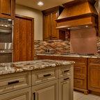 Stone Kitchen Hood in beautiful Denver kitchen - Traditional - Kitchen - Denver - by Distinctive ...