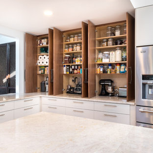 Counter Pantry with Appliance Storage