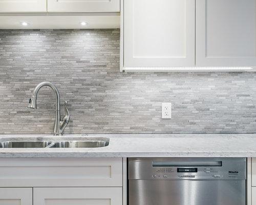 Cucina con top in marmo calgary foto e idee per ristrutturare e
