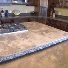 Contemporary Kitchen Countertops by Absolute Concrete Artisans