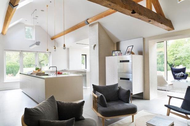 k chenanbau aus glas erweitert ein historisches wohnhaus. Black Bedroom Furniture Sets. Home Design Ideas