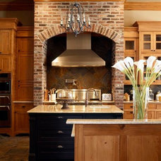 Farmhouse Kitchen by Ourso Designs