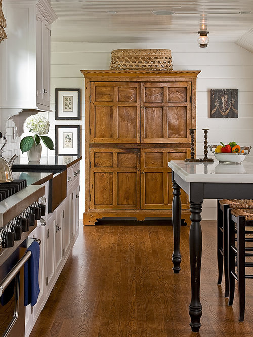Kitchen armoire home design ideas renovations photos for Country living light mahogany kitchen island