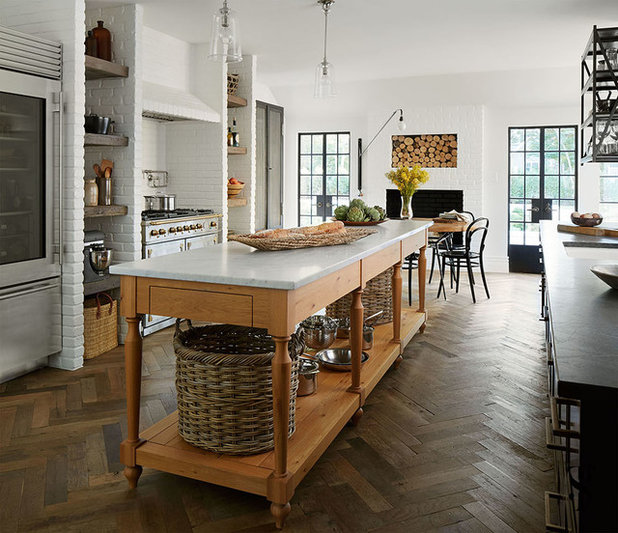 Transitional Kitchen by Summer Thornton Design, Inc