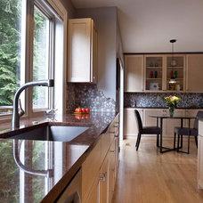 Transitional Kitchen by Creative Kitchens & Baths Seattle LLC