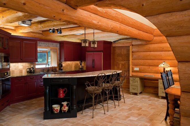 Rustic Kitchen by Fraley and Company