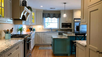 Country Style Kitchen- Teal Island