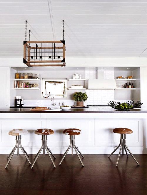 Farmhouse kitchen with wood countertops design ideas for Country kitchen ideas australia