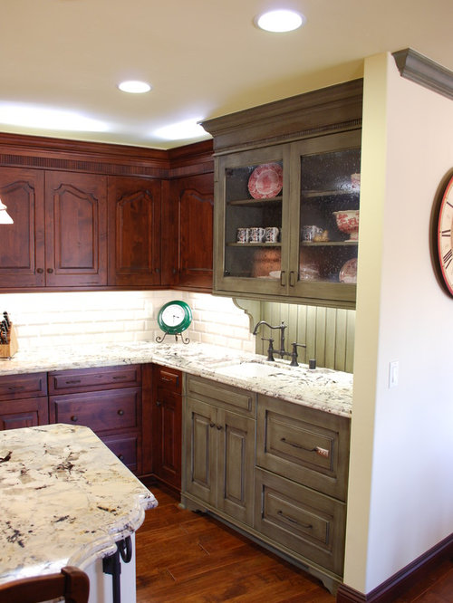 Kitchen design ideas renovations photos with coloured for Bentwood kitchen cabinets