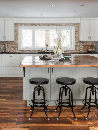Transitional Kitchen by Soda Pop Design Inc.