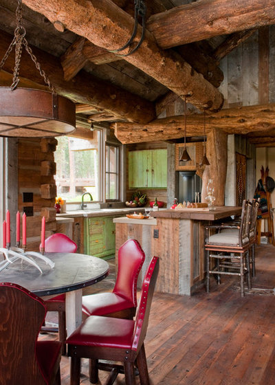 Rustic Kitchen by Highline Partners, Ltd