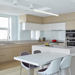 Kuchen Mit Glasruckwand In Usa Ideen Design Bilder Houzz