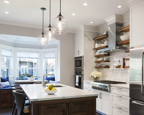 Transitional Eat In Kitchen Ideas   Transitional Galley Eat In Kitchen Idea  In Boston Part 44