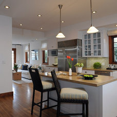 transitional kitchen by Annette English