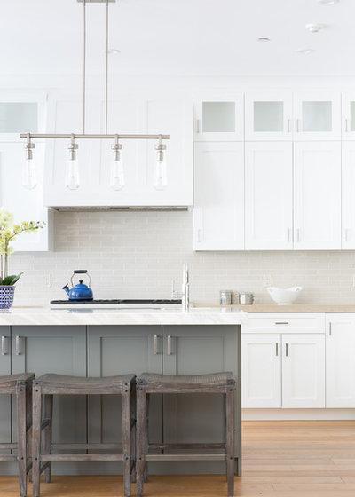 Transitional Kitchen by Alina Halloran Design