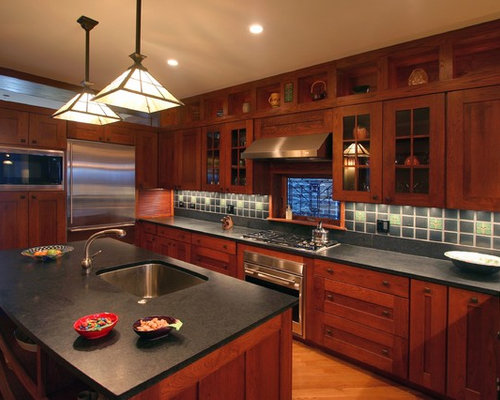 cherry mission style cabinets ideas, pictures, remodel and decor,Mission Style Cherry Kitchen Cabinets,Kitchen decor