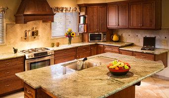 Craftsman Kitchen, Costa Esmeralda Granite, Desk, Island, Entertainment Center