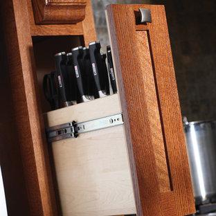 Craftsman kitchen inspiration - Arts and crafts kitchen photo in Minneapolis
