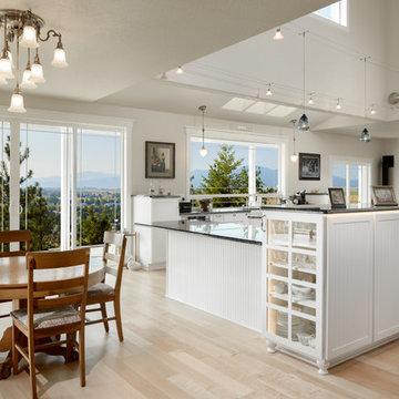 Craftsman Kitchen with Open Floor Plan