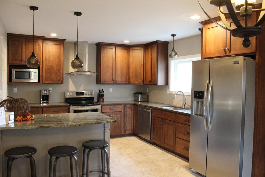 Craftsman Maple Kitchen