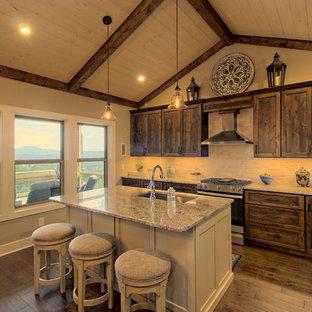 Craftsman Mountain Home: Vaulted Kitchen
