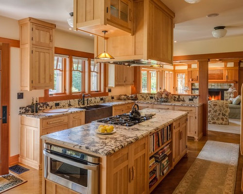craftsman kitchen cabinets. Large craftsman eat in kitchen ideas  Inspiration for a large u shaped Best 100 Craftsman Kitchen Ideas Decoration Pictures Houzz