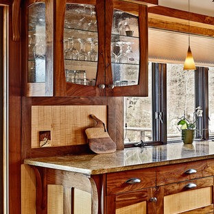 Craftsman Style Kitchen walnut and curly maple