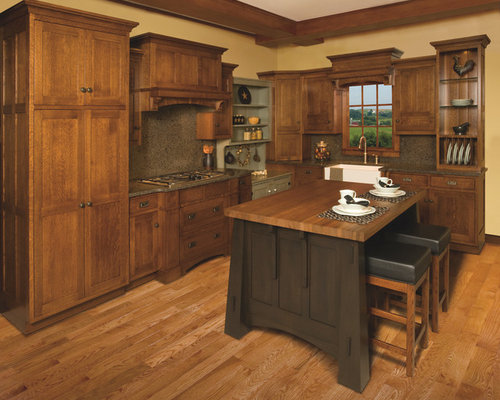 Kitchen design ideas renovations photos with brown for Artcraft kitchen cabinets