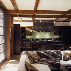 asian kitchen by Gardner Mohr Architects LLC