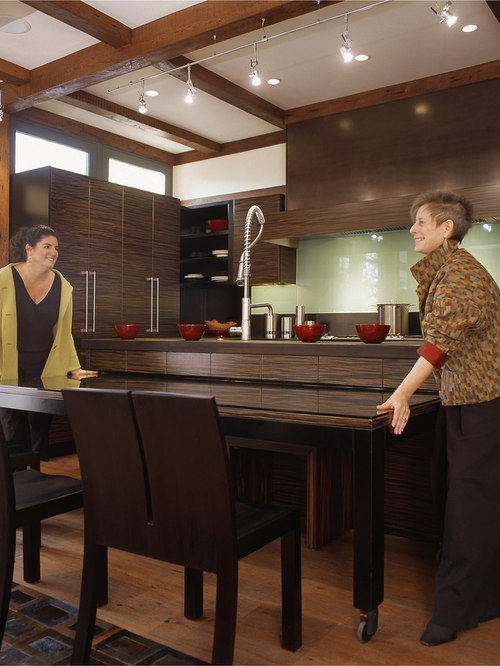 Retractable table houzz for Cuisine table retractable
