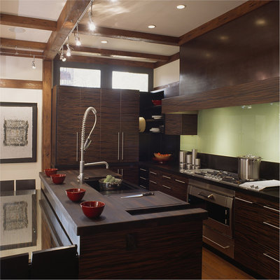 Cool Craftsman Kitchen by Gardner Architects LLC