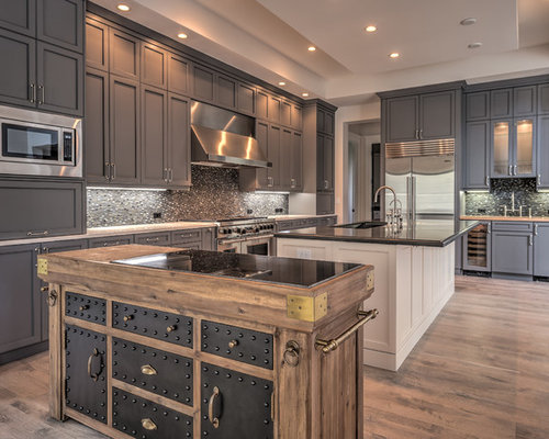 Best Gray Kitchen Cabinets Design Ideas & Remodel Pictures | Houzz