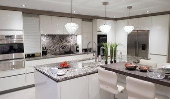 Cream Handleless Slab style Kitchen
