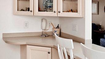 Cream Kitchen with Corner Cabinet in Essex, MD
