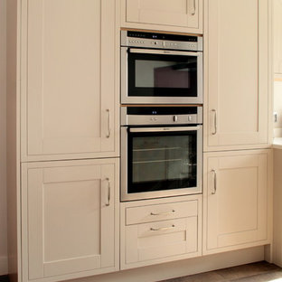 Cream shaker kitchen with built in appliances