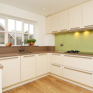 Cream U shaped kitchen